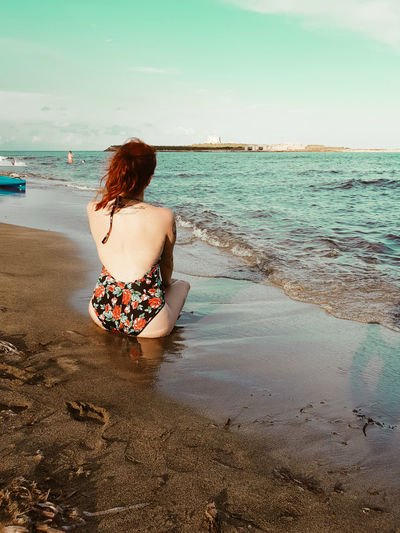 Back Human Back Water Young Women Sea Women Beach Sand Summer Rear View Summer In The City My Best Travel Photo International Women's Day 2019