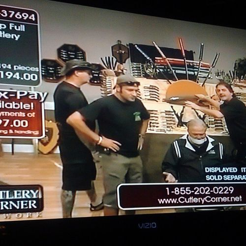 True Hillbilly brilliance at its best is the Knifeguys shopping channel at 3am. Entertainment for hours.still really confused over the tied up and gagged guy in the chair, but they were pretty excited over that too. Hilarious Entertainment latenightshoppingchannel