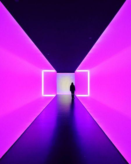 James Turrell _ The Light Inside Full Length Walking Indoors  One Person Silhouette JamesTurrell MFAH Light Lightart Contemporaryart HoustonTX