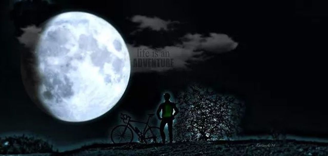 Hanging Out Peace And Quiet Bike Moonlight