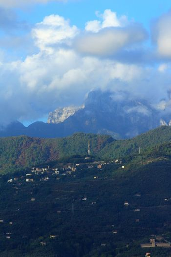Apuan Alps Travel Beauty In Nature Cloud - Sky Day Italy Landscape Mountain Mountain Range Nature No People Outdoors Scenery Scenics Sky Tranquil Scene Tranquility