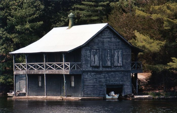 Beautiful old structure Architecture Building Exterior Built Structure Two Story Boat House