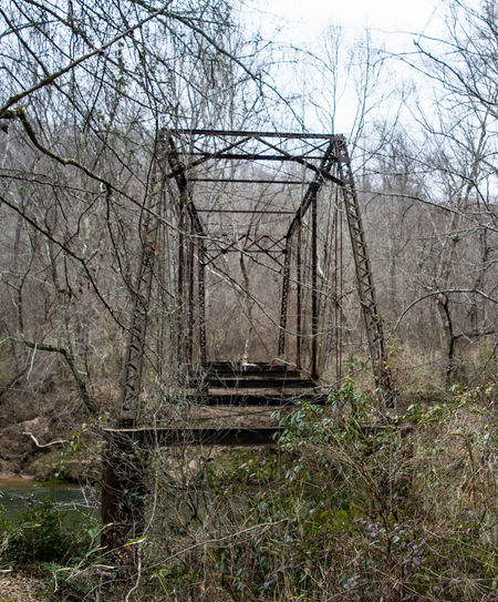 Abandoned bridge at the site of the former Georgia Nuclear Aircraft Laboratory, Dawson Forest, GA. Abandoned Abandoned & Derelict Bridge Built Structure Forest Iron Work Ironwork  Rusting Away
