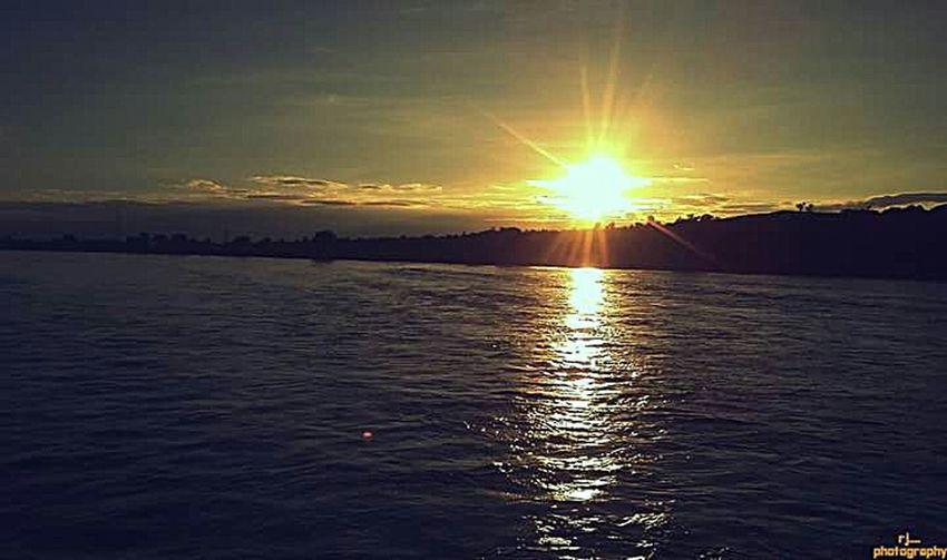 Sone river Towards Sunset .