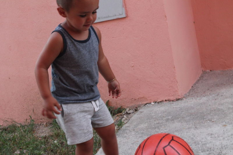 Child Children Only Childhood Boys One Person One Boy Only Males  Standing Day Outdoors Basketball - Sport
