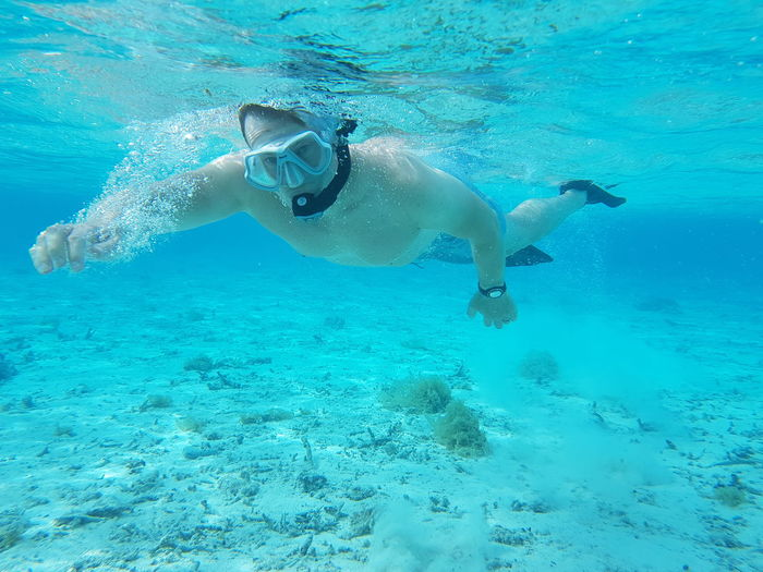 Underwater UnderSea Water Swimming Sea Snorkeling Scuba Diving One Person Adult Sea Life Travel Destinations Tahiti Vacations French Polynesia Plongée Mer Blue Maupiti Done That.