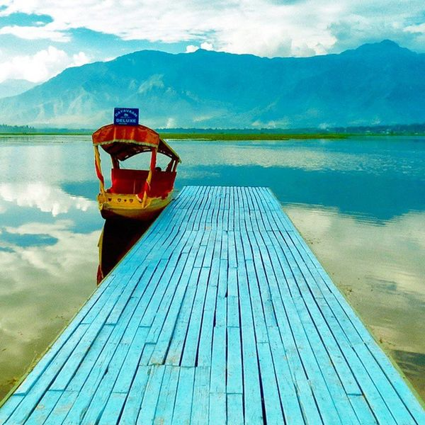 Shikara at Dal Lake Landscape Photography Lake charchinar Kashmir India 2013