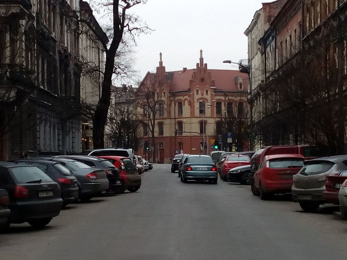 Streetphotography Cracov Winter Car Street Transportation Architecture City Street City Mode Of Transport Building Exterior Outdoors Built Structure Day Land Vehicle Road Sky EyeEmNewHere