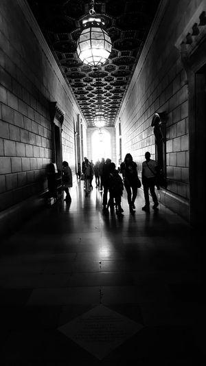 Blackandwhite Photography Black And White Leading Lines Indoors  Hallway Architecture Men Architecture Ceiling Light  Passage