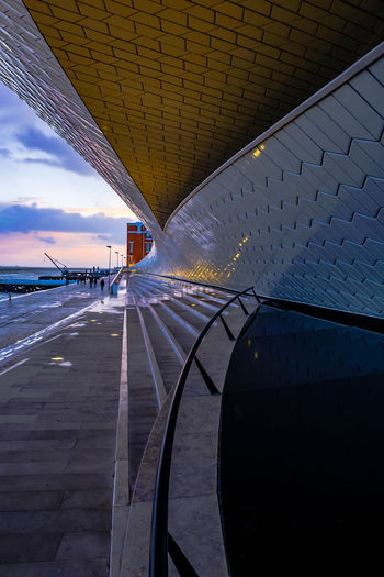 Architecture Lisbon - Portugal MAAT Museum Maat, Portugal, Belem Architecture Bridge Bridge - Man Made Structure Building Exterior Built Structure City Cloud - Sky Day Incidental People Maat Maat - Museum Mode Of Transportation Modern Nature Outdoors Railing Sky Transportation Travel Water