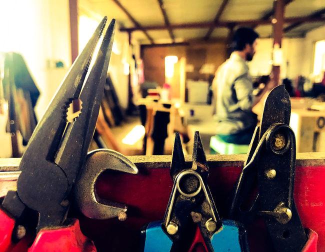 Engineer Factory Guitar Facto Guitar Workshop Guitars Indoors  Industry One Person Tools Work Tool Workshop
