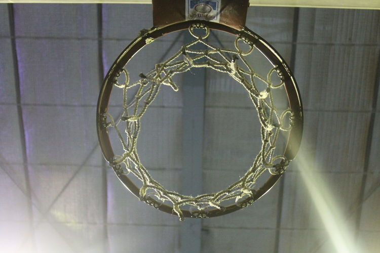 Basket Basketball Ring Ceiling Courtyard  Game Geometric Shape Indoors  No People