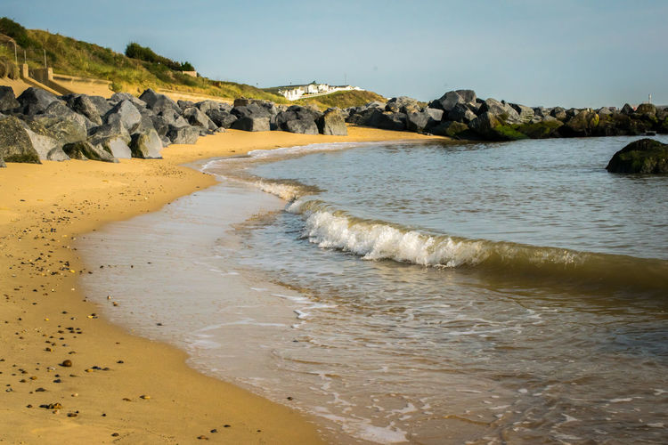 Beach Beauty In Nature Clear Sky Day Landscape Nature No People Outdoors Sand Scenics Sea Sky Tranquil Scene Tranquility Water Wave