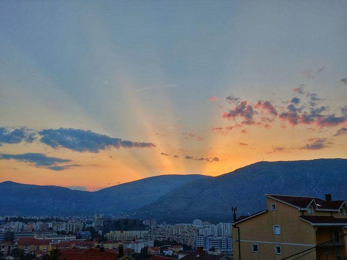 Sunset Mostar Bosnia And Herzegovina Hot Weather +30 Shotonnexus5x