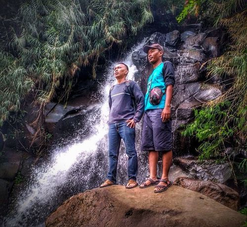 Curug Pagilaran @ Batang Pekalongan Central Java Family Boys Child Nature Family With One Child Togetherness Males  Outdoors Forest Father Hiking Day Water Full Length Happiness Son Females Offspring Vacations Men