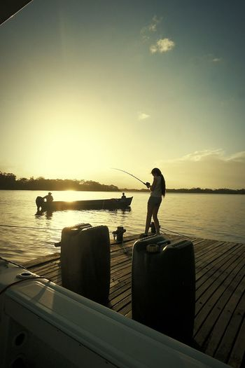 Fishing Water Outdoors Nature Sky Casa Del Rio Rio San Juan Nature Nicaragua One Person Be. Ready.