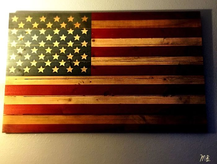 Home Is Where The Art Is America American Flag Home Of The Brave Home Sweet Home Old Glory Blessed  Wooden Wooden Texture Brave Strong