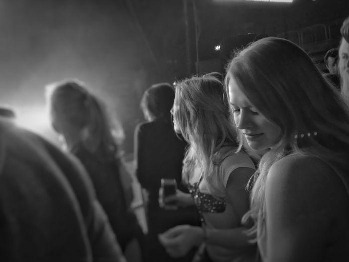 Young women enjoying in nightclub