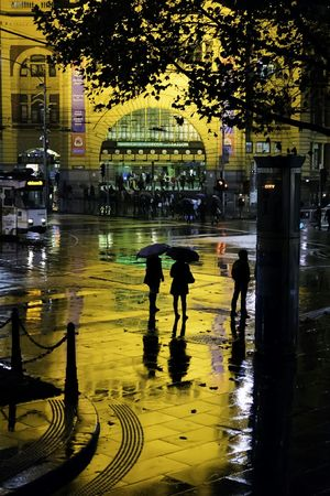 Darkness And Light Street Photography EyeEm Melbourne Melbourne Sony Nightphotography Streetphotography Nightshot Silhouette Flinders Street Station