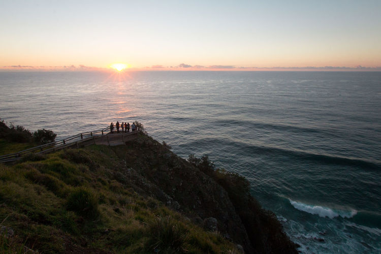 Watching the sunrise at the most eastern point of Australia in Byron Bay. Australia Byron Bay Byron Bay Lighthouse Beauty In Nature High Angle View Horizon Horizon Over Water Idyllic Landscape Ocean Outdoors Sea Seascape Sky Sun Sunrise Tranquility Water