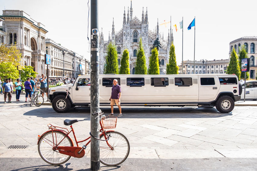 Bicycle Car City Life City Life City Street Cityscape Embrace Urban Life Italy Land Vehicle Limousine Lombardia Milan,Italy Milano Mode Of Transport Travel Destinations