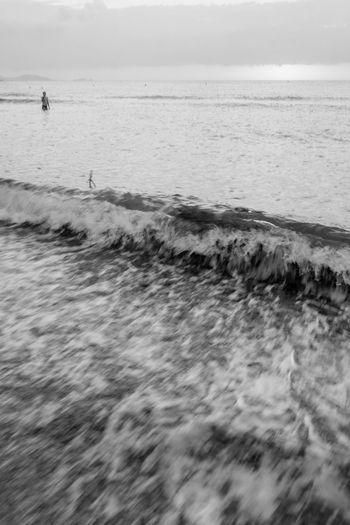 Beach Blackandwhite Coastline Corsica FUJIFILM X-T1 Sand Sea Water Wave