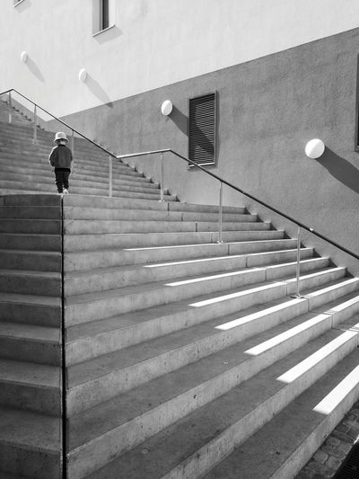 Architecture Built Structure Building Exterior Day Outdoors Steps Staircase City Street Backgrounds HuaweiP9 Long Goodbye Scenics Close-up Welcome To Black City Street Light Full Frame Black & White Monochrome _ Collection I Am Alone Monochrome Photography One Person EyeEmNewHere Ligth And Shadow The Architect - 2017 EyeEm Awards Neighborhood Map