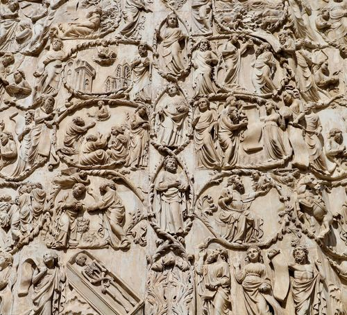 Italian Art Orvieto Cathedral See What I See Testament Architecture Architecture And Art Art And Craft Bas Relief Bible Carving - Craft Product Duomo Di Orvieto Full Frame History Medieval Architecture Ornate Orvieto Pattern See The World Through My Eyes Storyteller The Past Umbria