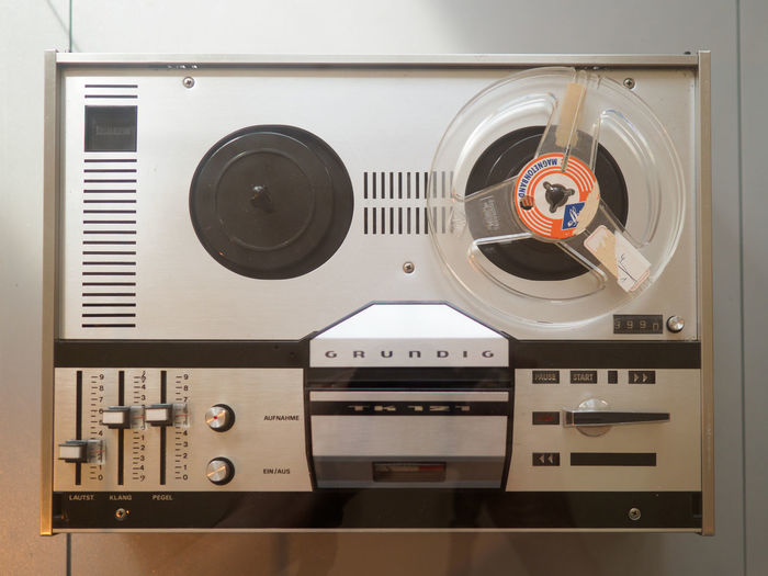 Vintage Grundig Tape Recorder Technology No People Indoors  Music Close-up Circle Shape Geometric Shape Still Life Retro Styled Equipment Number Arts Culture And Entertainment Stereo Audio Equipment Sound Recording Equipment Control Communication Design Connection Block Electrical Equipment Tape Recorder Grundig Tape Reels