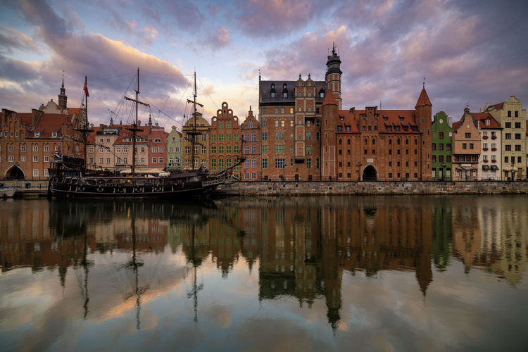 gdansk! Landscape City Cityscape Lifestyles Reflection Silhouette Politics And Government Water Cityscape City Business Finance And Industry Reflection Sunset Sky Architecture Cloud - Sky Office Building Old Ruin Historic Civilization Skyscraper Tower