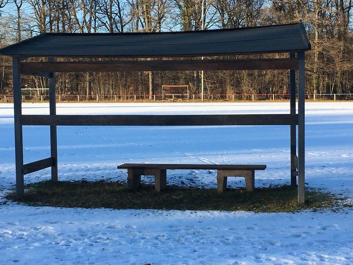 Built Structure Architecture Sports Photography Sportplatz Outdoors Snow ❄ Snow Football Field Football Stadium No People Day
