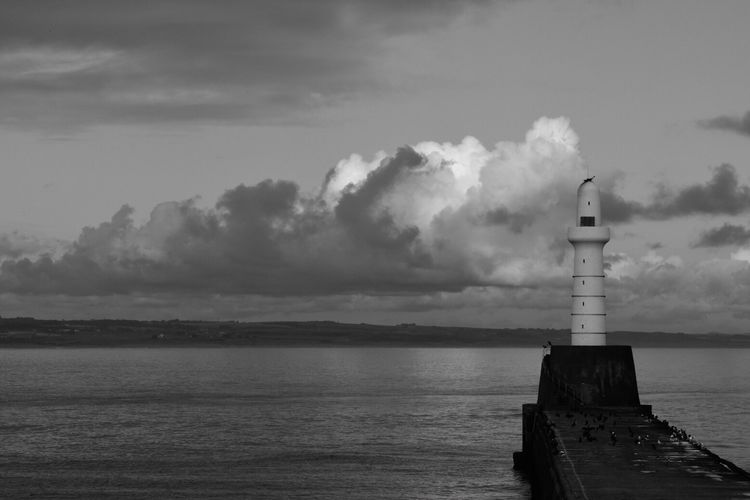 Lighthouse Cloud - Sky Sea Nature Architecture No People Day Nautical Equipment Entrance To Harbour Aberdeen Scotland