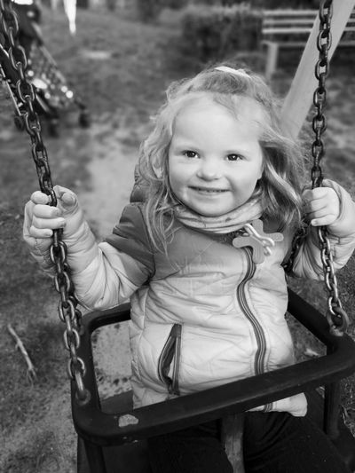 sweet girl Swing Childhood Rope Swing Playground Girls Rope Child One Girl Only People Day Children Only Portrait Happiness Love Yourself