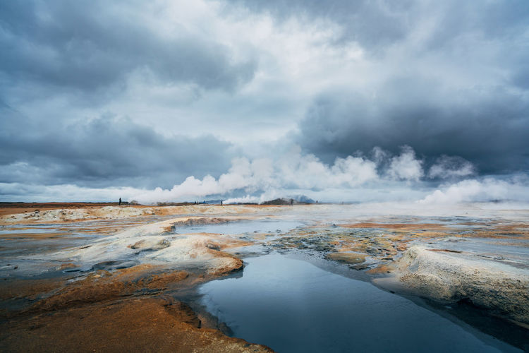 Beauty In Nature Blue Iceland Nature No People Outdoors Red Storm Cloud Sulfur Gas Market Bestsellers 2017