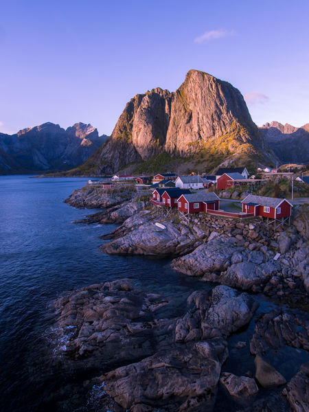 Beauty In Nature Classic View Clear Sky Day Hamnøy Lake Landscape Lofoten Mountain Mountain Range Nature No People Outdoors Reine Robur Rock - Object Scenics Sky Sunset The Great Outdoors - 2017 EyeEm Awards Tranquil Scene Tranquility Water