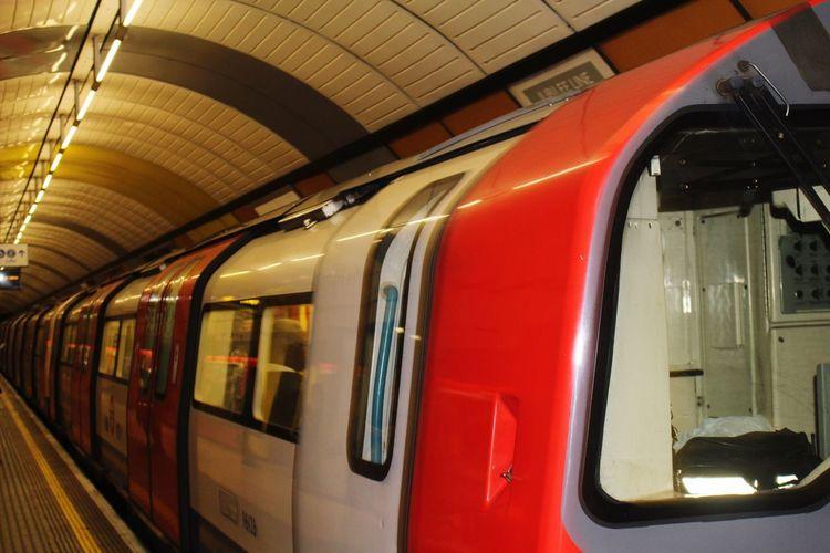 Original Experiences London Mode Of Transport Public Transportation Train Land Vehicle Passenger Train Illuminated Part Of Journey Red Subway Station London Lifestyle
