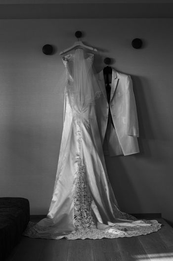 NextStep EyeEm Bnw Indoors  Wedding Dress Hanging Coathanger Home Interior Bride Fashion Domestic Room Life Events Day Bridal Shop People