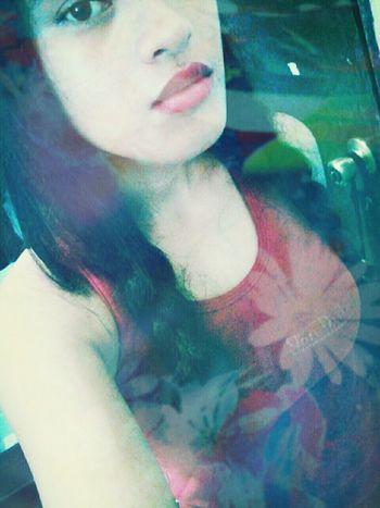 Hi! Lipstick and nothing else.Bored af Trickortreat Self Portrait Bokeh Photography Selfie ♥