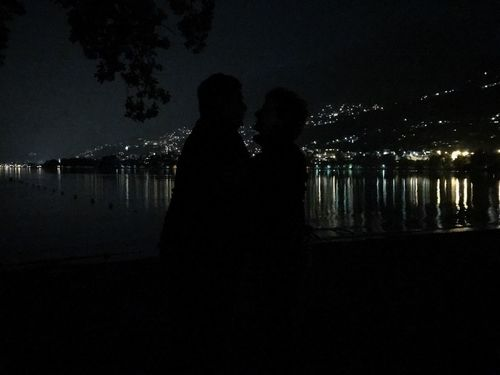 Lake by Night Water Two People Night Togetherness Real People Women Nature Silhouette Love