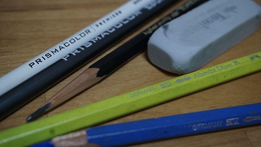 Eraser Color Pencil Pencil Indoors  Table