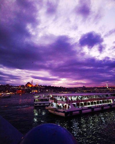 Brill Holland Fransa Polandia Travel Loveistanbul Russia Restaurant Swedish En Gezi Spanya Turkey Istanbul Turkey City Cityscape Astronomy Star - Space Water Sea Milky Way Urban Skyline Purple Harbor