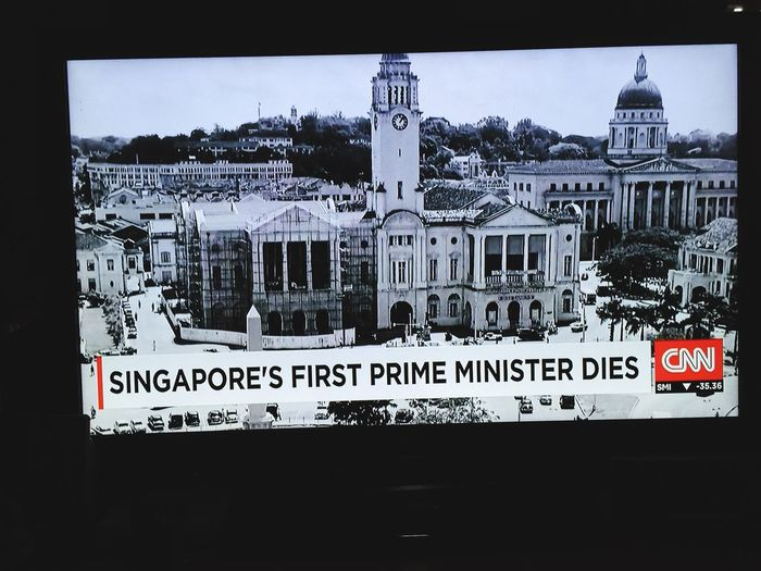 sad news for all of us here in Singapore Check This Out News On TV