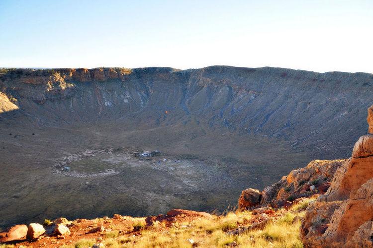 Arizona Crater Lake Creater  Moon Outdoors Sky