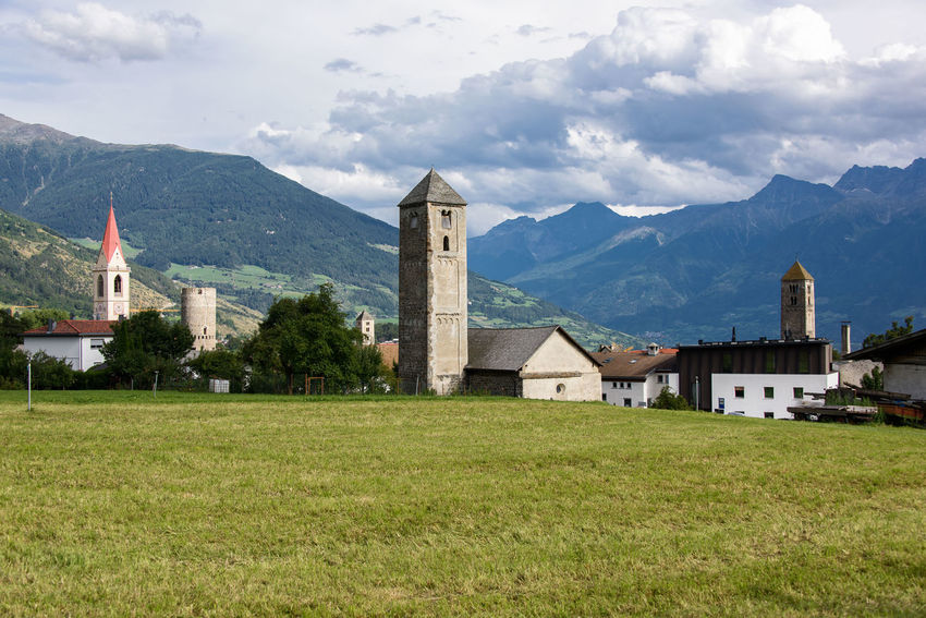 Malles Venosta - Mals Architecture Beauty In Nature Building Building Exterior Built Structure Cloud - Sky Day Italy Land Landscape Mals Mountain Mountain Range Nature No People Outdoors Place Of Worship Plant Scenics - Nature Sky South Tyrol Val Venosta Vinschgau