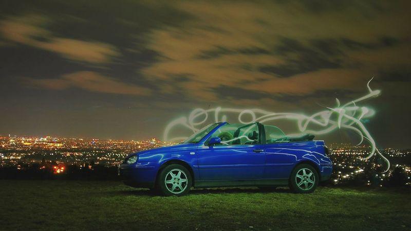 Vienna Vienna View  Vienna By Night.. Golf VW Cabrio Car Driving Night Outdoors Nightphotography Nightlights