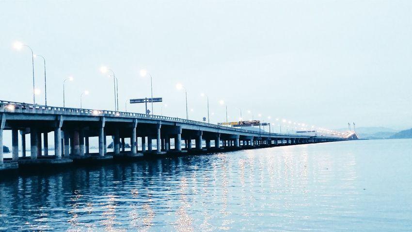 Penang Malaysia Penang Penang Bridge Penang Island Malaysia Malaysianphotographer Bridge Underthebridge Bythesea Blue Blue Sky Allinblue Bluelover Loveit Photooftheday Loveit❤ Scenery Scenery Shots View Malaysian Bluelovers Pictureoftheday