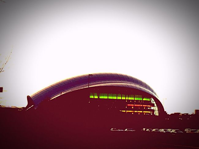 Showcase: February The Sage Gateshead Architecture Architectureporn SpaceShip Concert Hall  Music Education Sunset Silhouettes Newcastlegateshead Clouds And Sky Red Sky Music Is Life Travelling Home Iphone 6