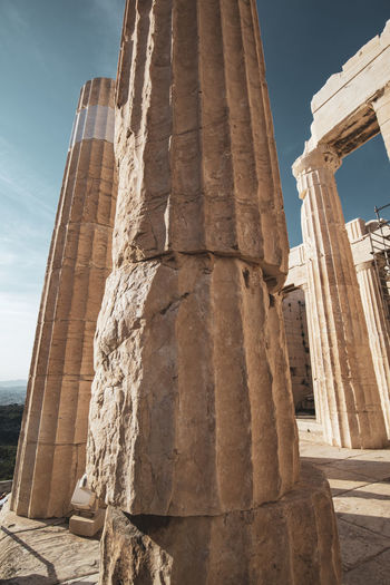Acropolis Athens Greece Acropolis Architecture History The Past Architectural Column Built Structure Ancient Ancient Civilization Travel Destinations Sky Travel Old Ruin Low Angle View Tourism Day Nature Sunlight Archaeology City No People Building Exterior Outdoors Place Of Worship Ruined