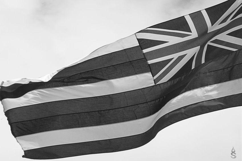 Bandiera Bandiere Bianco E Nero Bianco&nero Biancoenero Black & White Black And White Blackandwhite Flag Flags Flags In The Wind  Hawaii Hawaiian