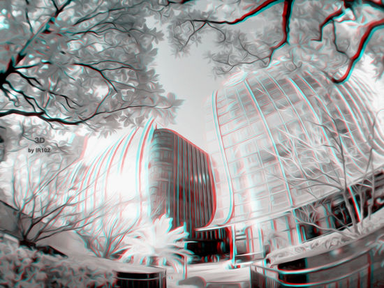 Use Red/Blue glasses to view. The 3D anaglyph images 3D 3D Art 3D Stereoscopic Photography 3D Anaglyph Anaglyphic IR Infrared RB Shanghai Streets Shanghai, China Stereo Camera Stereography Stereoscopic 3D The 3D Anaglyph Images Anaglyph 3D Glasses B&w Photography Chinese Infrared Photo Infrared Photography Red And Blue Stereo Image
